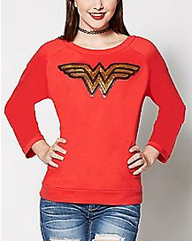 Wonder Woman Sequin Fleece - DC Comics