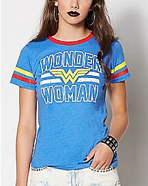 Wonder Woman Hockey T Shirt - DC Comics
