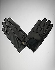 Faux Leather Driving Gloves