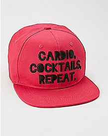 Cardio Cocktail Repeat Snapback Hat