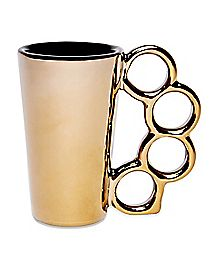 Brass Knuckle Shot Glass 1.5 oz