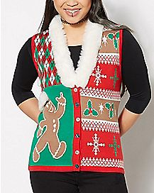 3D Gingerbread Christmas Sweater Vest