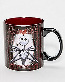 Cross Heart Jack Skellington Coffee Mug 20 oz. - The Nightmare Before Christmas