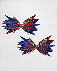 Red and Blue Bat Bows
