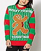 Light Up Gingerbread Man Christmas Sweater