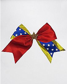 Red and Blue Star Cheer Bow