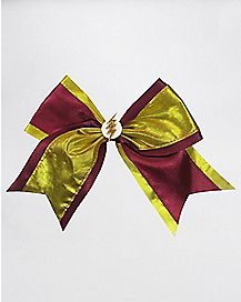 Burgundy Lightning Bolt Bow