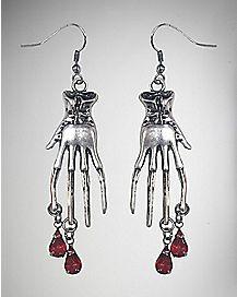 Bloody Hand Earrings