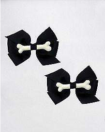 Black and White Bone Bows 2 Pack