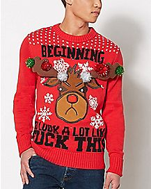 Light Up Reindeer Christmas Sweater
