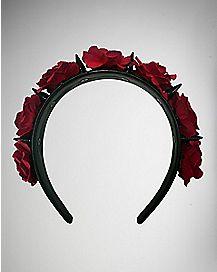 Red Rose Spike Headband