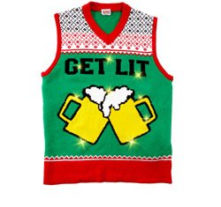 LIGHT UP GET LIT SWEATER VEST