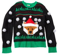 3D POM FOX SWEATER