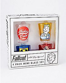Fallout Shot Glass Set  4 Pack - 1.5 o.z