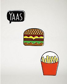 Yaas, Burger, Fries Pin Set