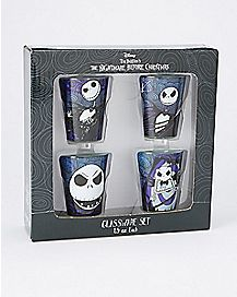 Jack Skellington Nightmare Before Christmas Mini Glass Set - 4 Pack 1.5 oz