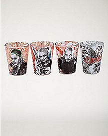 Movie Character Suicide Squad Shot Glass Set - 4 pack 1.5 oz