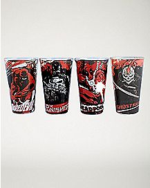 Marvel Pint Glasses 4 Pack 16 oz. - Marvel Comics
