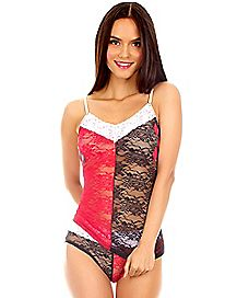 Harley Quinn Lace Tank Panties Set - DC Comics