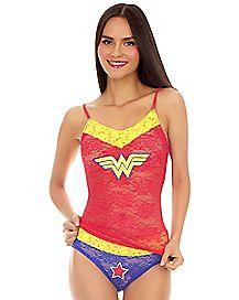 Wonder Woman Lace Tank Panty Set