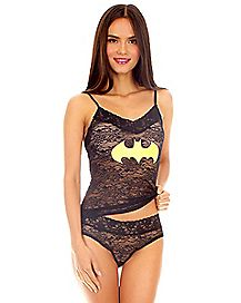 Batman Lace Tank Panties Set - DC Comics