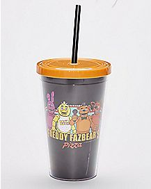 Group Five Nights At Freddys Cup with Straw - 16oz