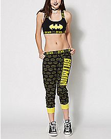 Batman Sports Bra and Jogger Set - DC Comics