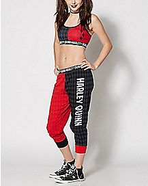 Harley Quinn Sports Bra Jogger Set