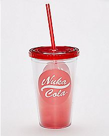 Nuka Cola Fallout Cup With Straw - 16 oz.