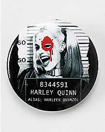 Mugshot Harley Suicide Squad Button