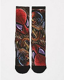 Sublimated Spiderman Crew Socks