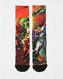 Sublimated Link Legend of Zelda Crew Socks