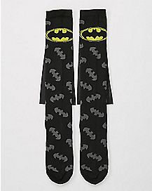 Caped Logo Batman Knee High Socks