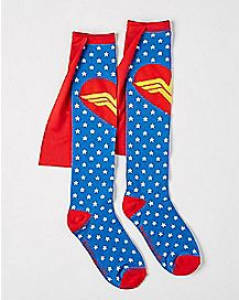 Caped Wonder Women Knee High Socks