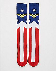 Suit Up Wonder Woman Knee High Socks