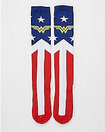 Suit Up Wonder Woman Knee High Socks