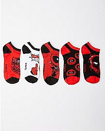 Deadpool No Show Socks 5 Pair - Marvel Comics