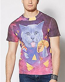 Taco Cat Galaxy T Shirt