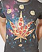 Sublimated Pizza Pot Leaf T Shirt