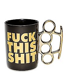 Fuck This Shit Brass Knuckle Mug - 20 oz.