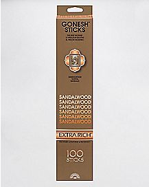 Gonesh Extra Rich Incense Sticks 100 Pack - Sandalwood
