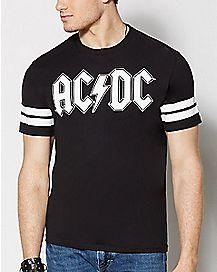 Black Varsity ACDC T Shirt