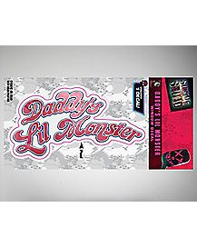 Daddy's Little Monster Suicide Squad Window Decal