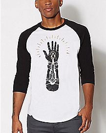 Assassins Creed Live By The Creed Raglan T Shirt