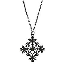 Jack Nightmare Before Christmas Filigree Necklace