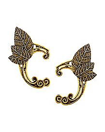 Gold-Tone CZ Elf Ears Ear Cuff