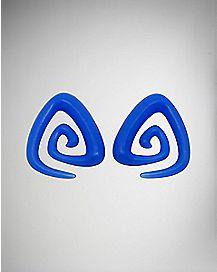 Blue Triangle Spiral Tapers