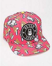 Never Sober Keg Snapback Hat