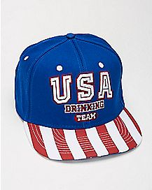 USA Drinking Team Snapback Hat