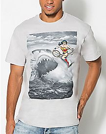 Shark Wonder Woman T shirt - DC Comics
